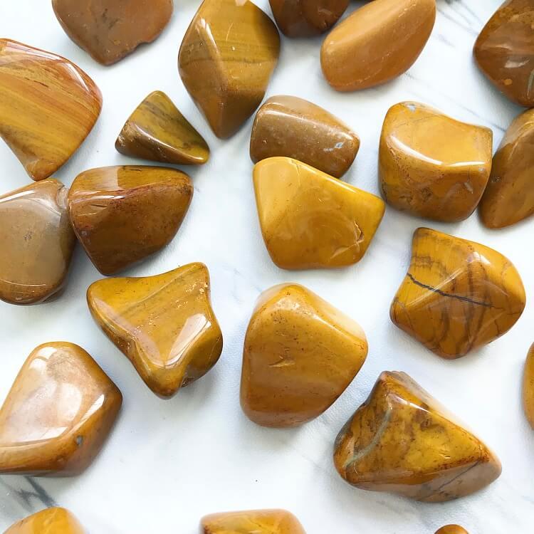 Yellow Jasper Tumbled Pocket Stone — Rocks with Sass