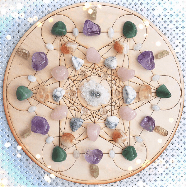 picture regarding Printable Crystal Grid known as How toward Establish a Crystal Grid Rocks with S