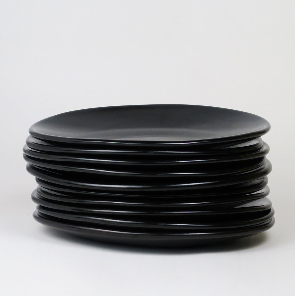sexy-black-dinner-plates stack-c-stoll.jpg & Shell Plates u2014 Luscious Porcelain