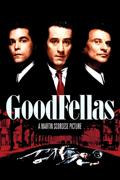"""Simultaneously fascinating and repellent, Goodfellas is Martin Scorsese's colorful but dramatically unsatisfying inside look at Mafia life in 1955-80 New York City."" Joseph McBride, Variety, 1990."