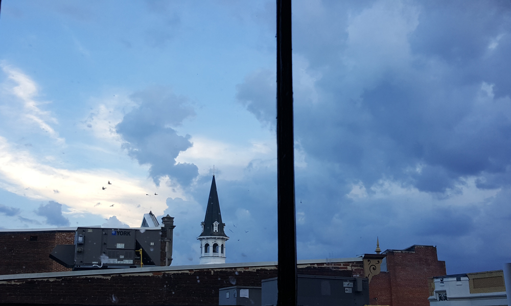A view of today's thunderstorm from my studio window.