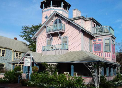 OAK BLUFFS INN (Oak Bluffs):                               800-955-6235 CLICK HERE for availability or call for room rates We are located at the top of Circuit Avenue, the main street in Oak Bluffs, steps away from dining, shopping, nightlife and entertainment. The beach is a five-minute walk on a sleepy residential street lined with picturesque gingerbread cottages.  Head in the opposite direction on the main street and you'll find the harbor. Oak Bluffs Bus Shuttle:  .50 mile / Finish Line: .50