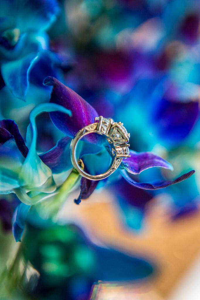 orchids engagement photo