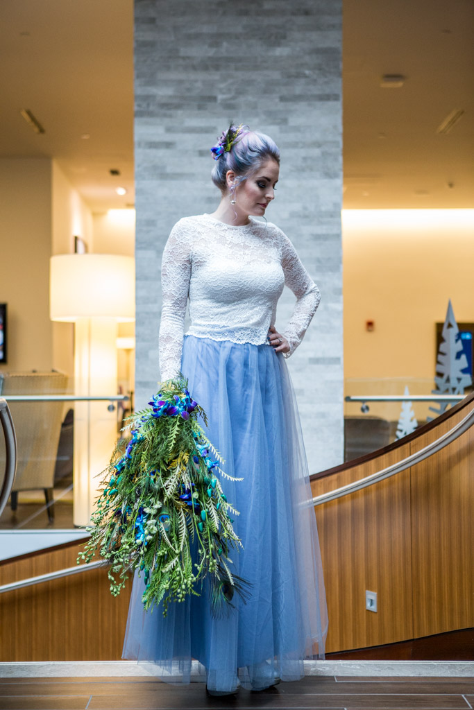 styled shoot bride