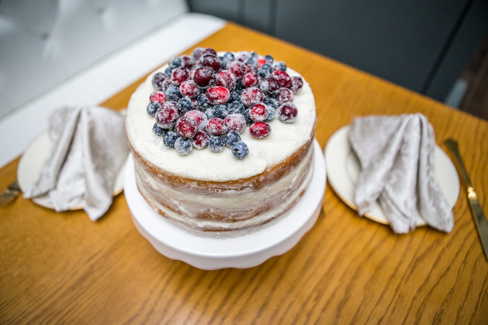 sugared berries naked cake