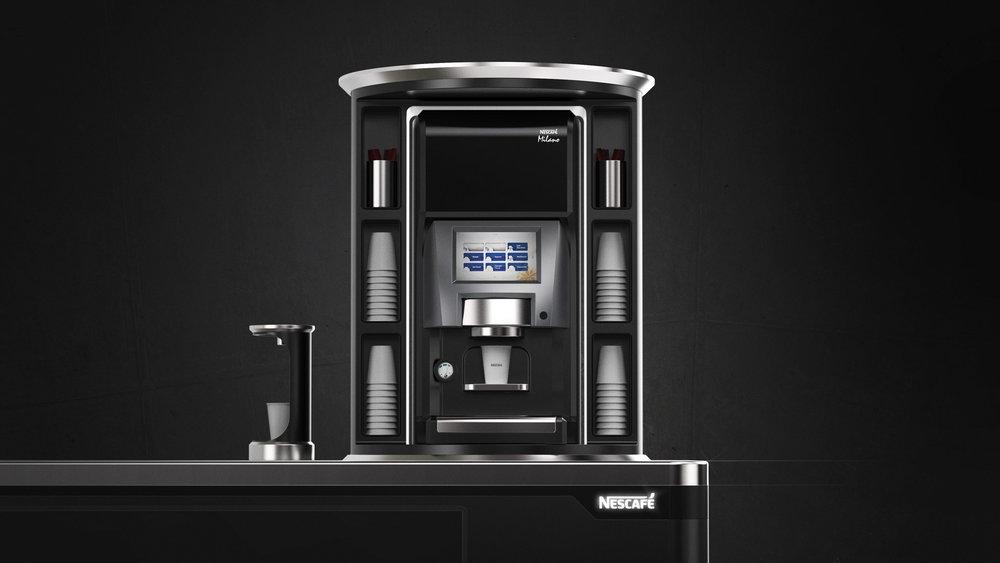 Nestle Coffee Cart Milano Machine