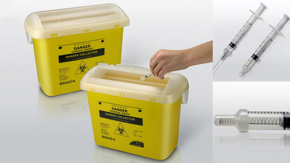 BMDI — Sharps Collector & Auto-Retractable Syringe (2008)