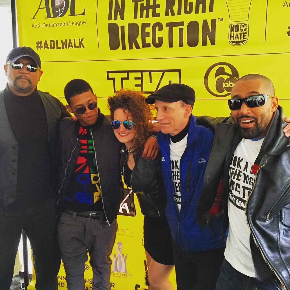 Alice Marie and members of The Big Unkle w/ Yazz from Empire at The ADL Walk Against Hate.