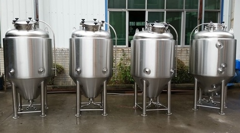 We're starting small, with 3BBL fermenters like these