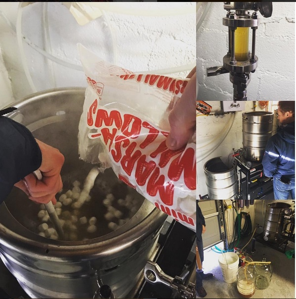 We collaborated with our friend to dream up and brew our S'more White Stout
