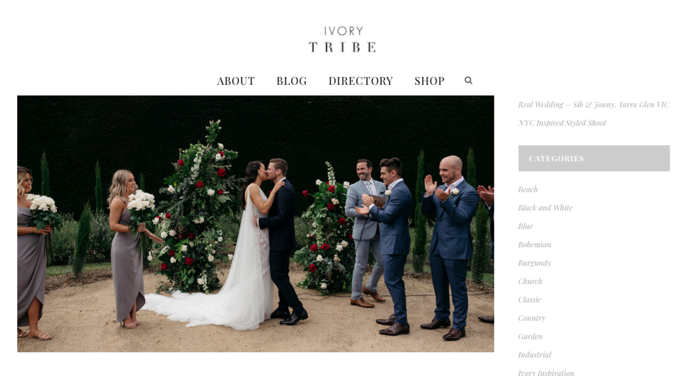Ivory Tribe (Rachel & Jack) - http://ivorytribe.com.au/real-wedding-rachel-jack-coldstream-vic/