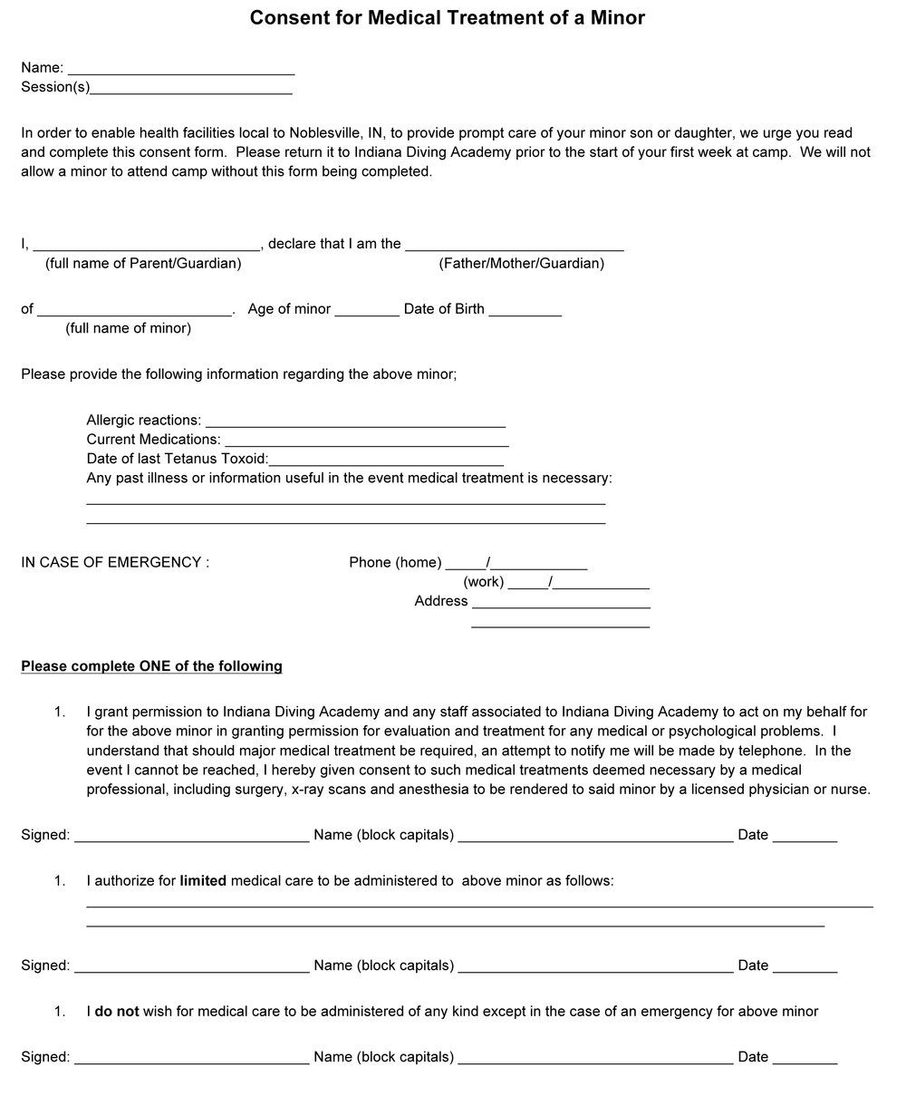 Medical Consent Form U2014 RipFest