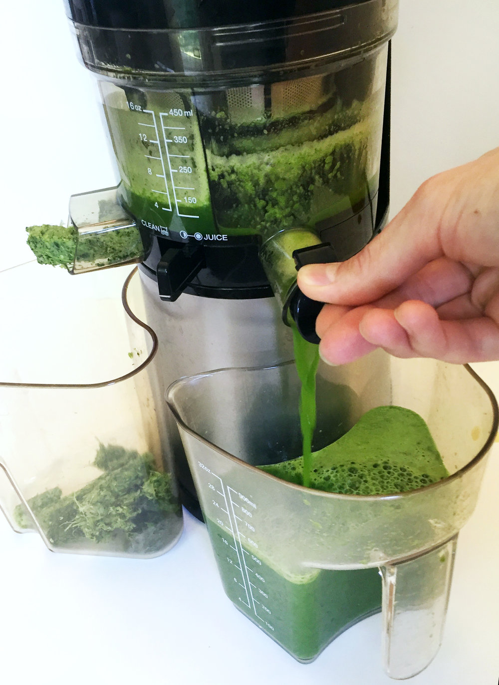 Juicing with my Hurom masticating juicer