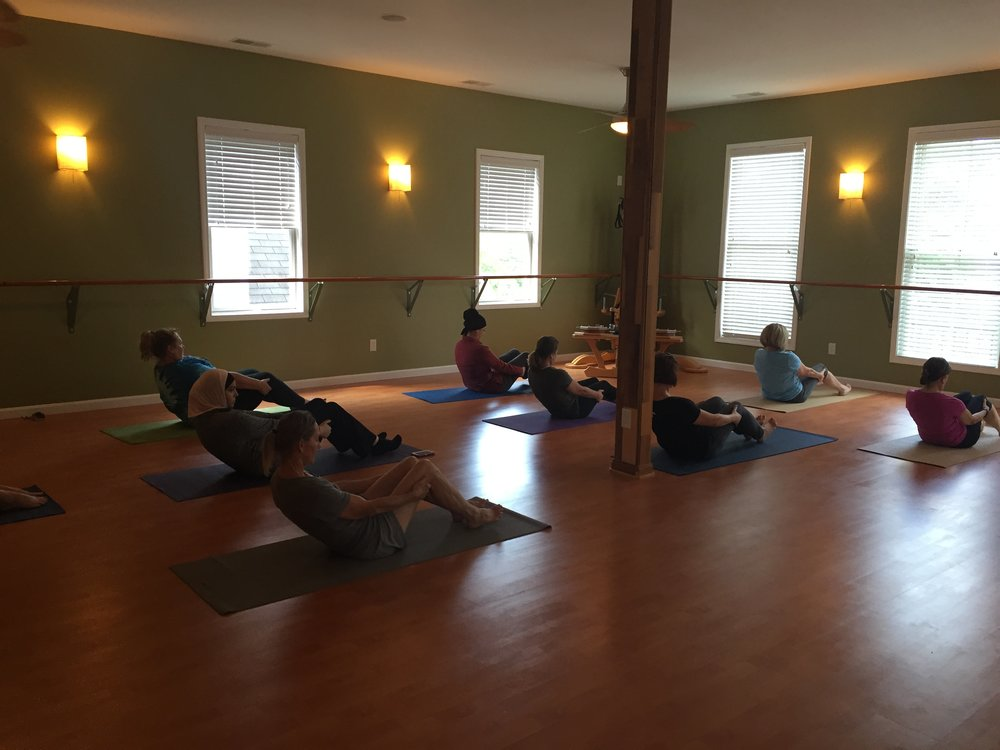 Pilates mat class at Core Pilates and Yoga Studio