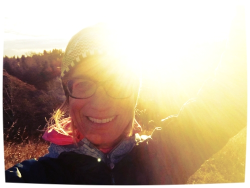 Me having a mini heart explosion on Tuesday morning, as I walked in nature and experienced pure gratitude at the warmth of the rising sun.