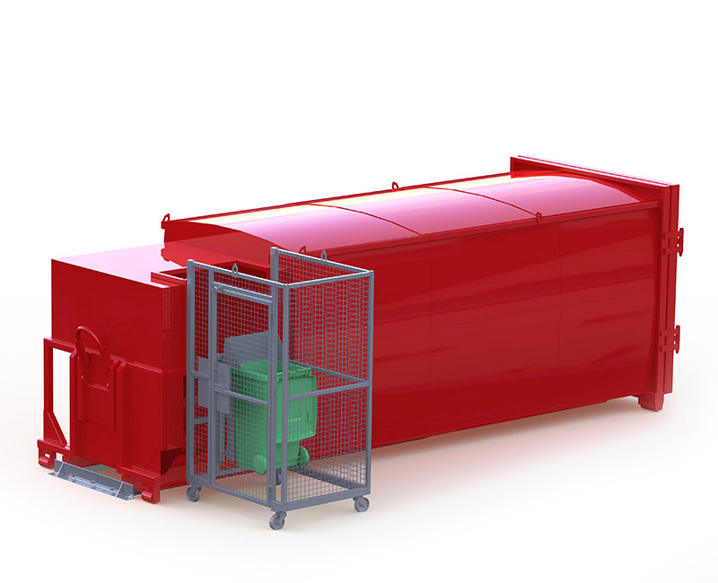 Rota-Pack Compactor Designed with an auger blade. View