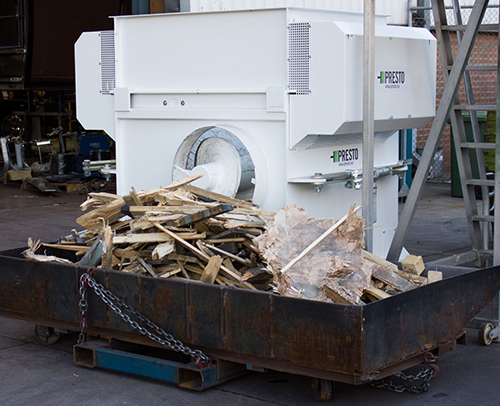 Timber Pallet Crusher