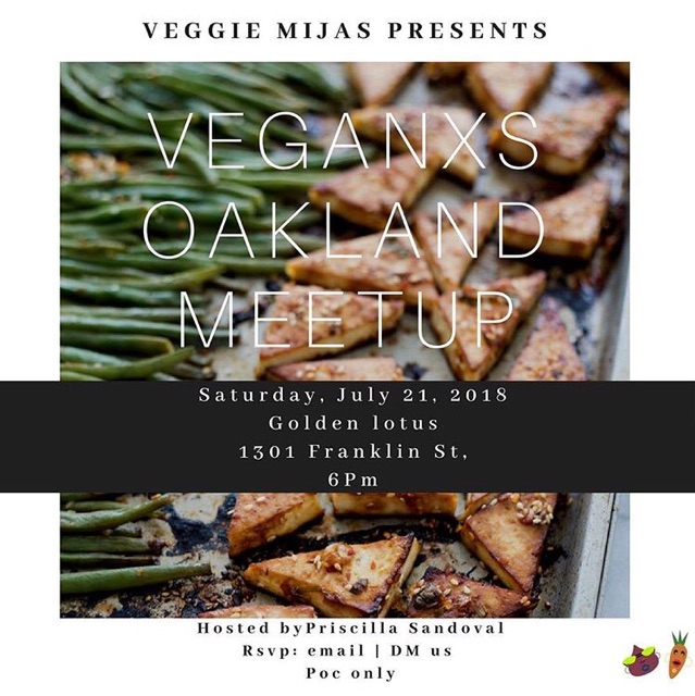 Saturday, July 21 - A meet-up in Oakland at Golden Lotus, 1301 Franklin St hosted by @prissandoval.