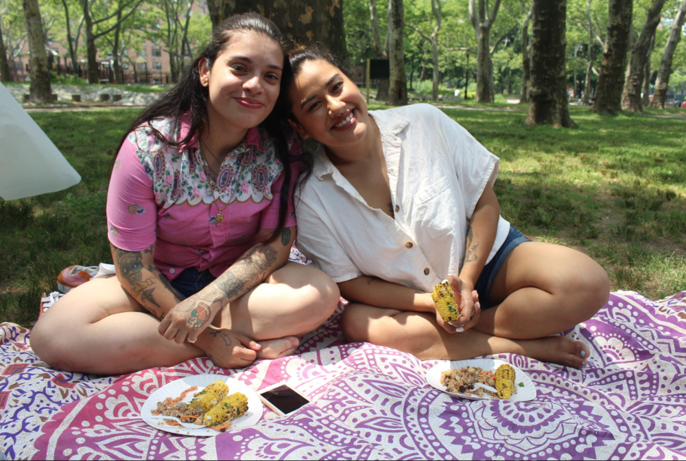 Johanna Toruño from The Unapologetically Brown Series (left) and Amy Quichiz, founder of Veggie Mijas (right).