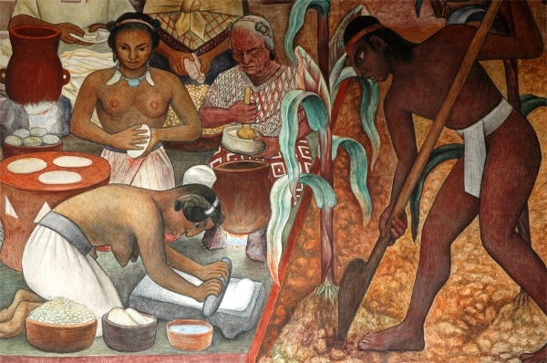 Grinding Corn  by Diego Rivera