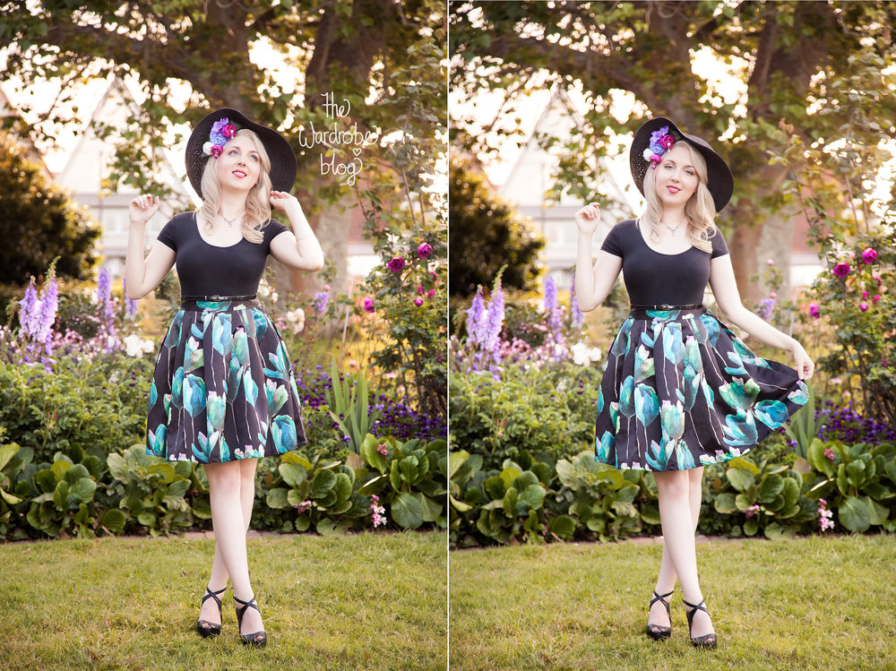 Hat flower from Shop the Wardrobe on Etsy.com, Skirt + Vintage Jewellery Set from The Vintage Vault Department, Top from Supre, Belt from Jacqui-E, Hat from Kmart, Shoes from Hannahs.