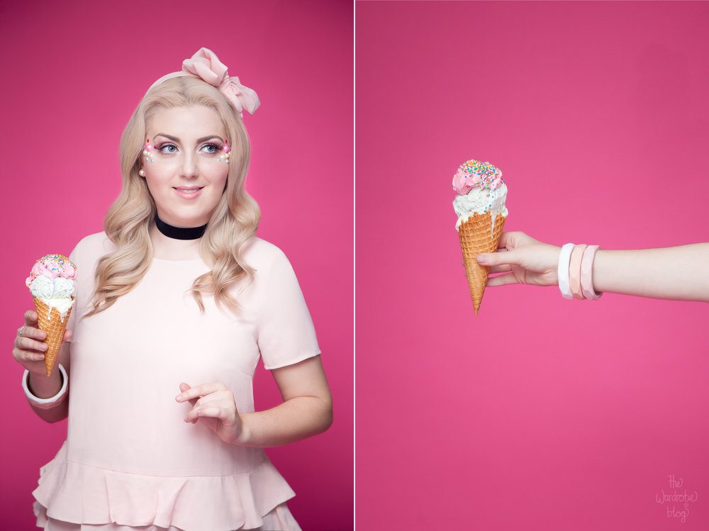 Icecream-Pair-Kmart-Blouse-Pink-Ruffle