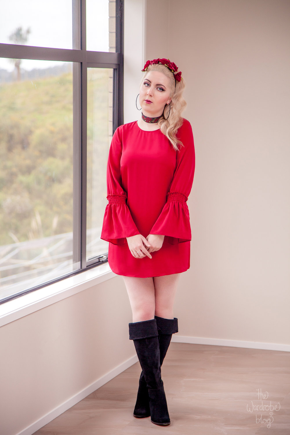 Rouge-Red-Dress-Boots-Hannahs