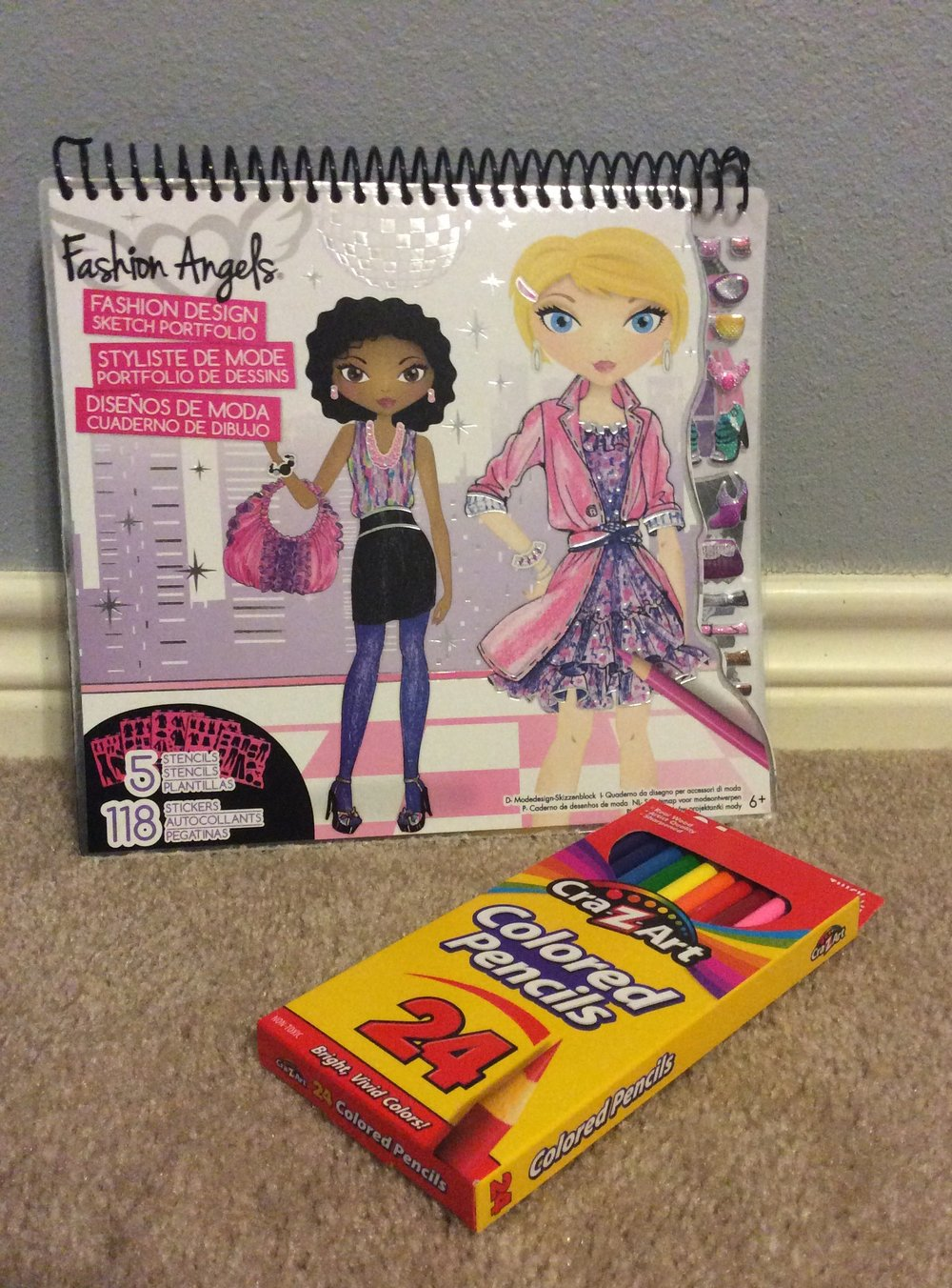 Fashion Pad (Target $9.99) & Pencils (Big Lots $2.25)