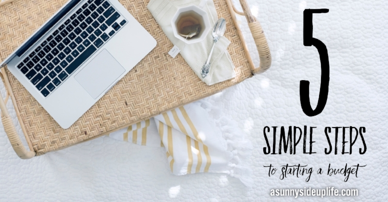 BEST Place to start with a budget! Love! 5 simple steps to starting a budget | How to start a budget | Where to start with a budget