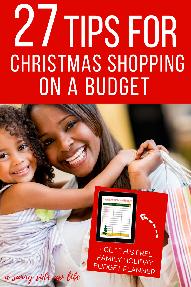 How to shop for christmas on a budget! Tons of tips and hacks for a family on a holiday budget! | budgeting | holiday budget | christmas budget | free holiday budget planner | free printable | christmas on a budget | budget friendly christmas | printable christmas planner | printable holiday planner | budget worksheets | budgeting for beginners | budget friendly gifts | frugal presents | christmas gifts | shopping | christmas shopping | holiday shopping | shopping hacks