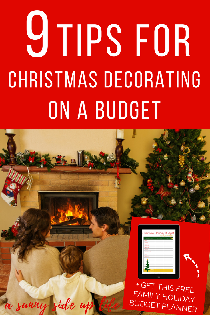How to decorate for christmas on a budget! Tons of tips and hacks for a family on a holiday budget! budgeting | christmas budget | free holiday budget planner | free printable | christmas on a budget | budget friendly christmas | printable christmas planner | printable holiday planner | budget worksheets | budgeting for beginners | budget friendly decorating | farm house style | country decor | simple decorating | Christmas decorating | Holiday decorating | frugal hacks
