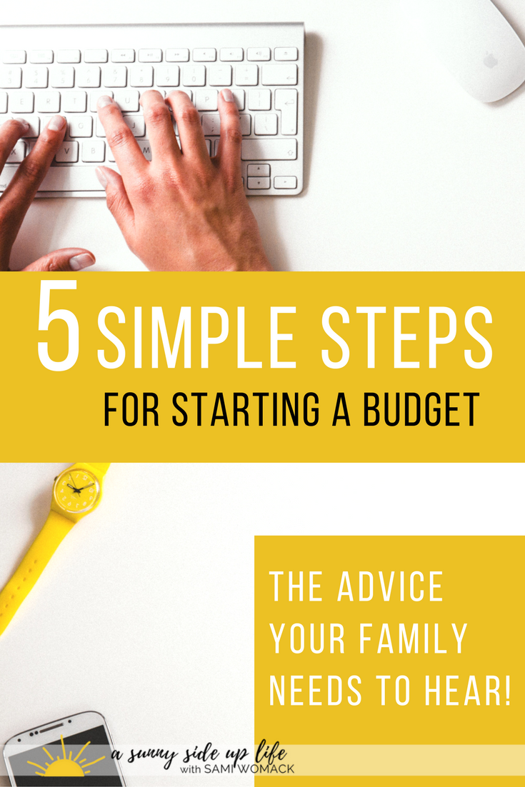 BEST Place to start with a budget! Love!  5 simple steps for starting a budget | Sami Womack | How to start a budget | Where to start with a budget | budgeting tips | starting a budget
