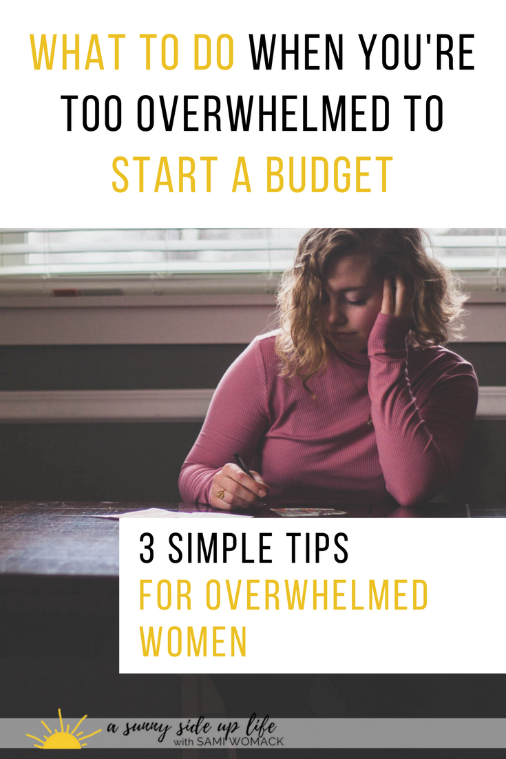 Why You Need to Stop Over-Analyzing + Just Start a Budget | Sami Womack | budgeting for beginners | budget | starting a budget | budget tips | become debt free | budgeting for overwhelmed women