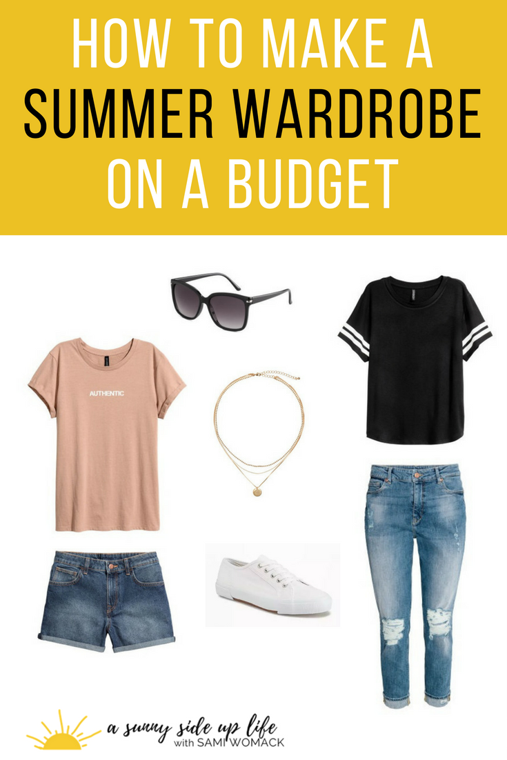 How to Make a Summer Wardrobe on a Budget | Sami Womack | cheap summer clothes | affordable wardrobe | mom style | comfy clothes | summer fashion | budget | budgeting | how to shop on a budget | capsule wardrobe | style with sneakers