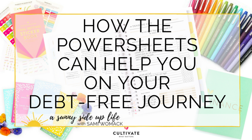 powersheets debt free journey budgeting