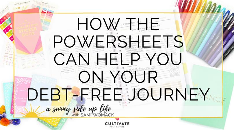powersheets debt free journey budgeting