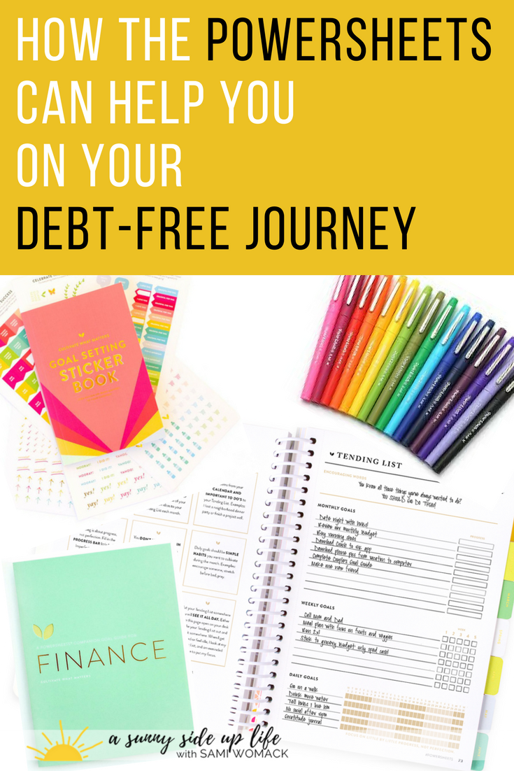 how the powersheets can help you on your debt free journey | budgeting | money goals | family | goal setting | cultivate what matters | financial goals | finances | motherhood | mom life hacks | how to start a budget | how to set | where to start