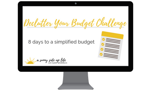 Declutter Your Budget   FREE  8-day simplified challenge