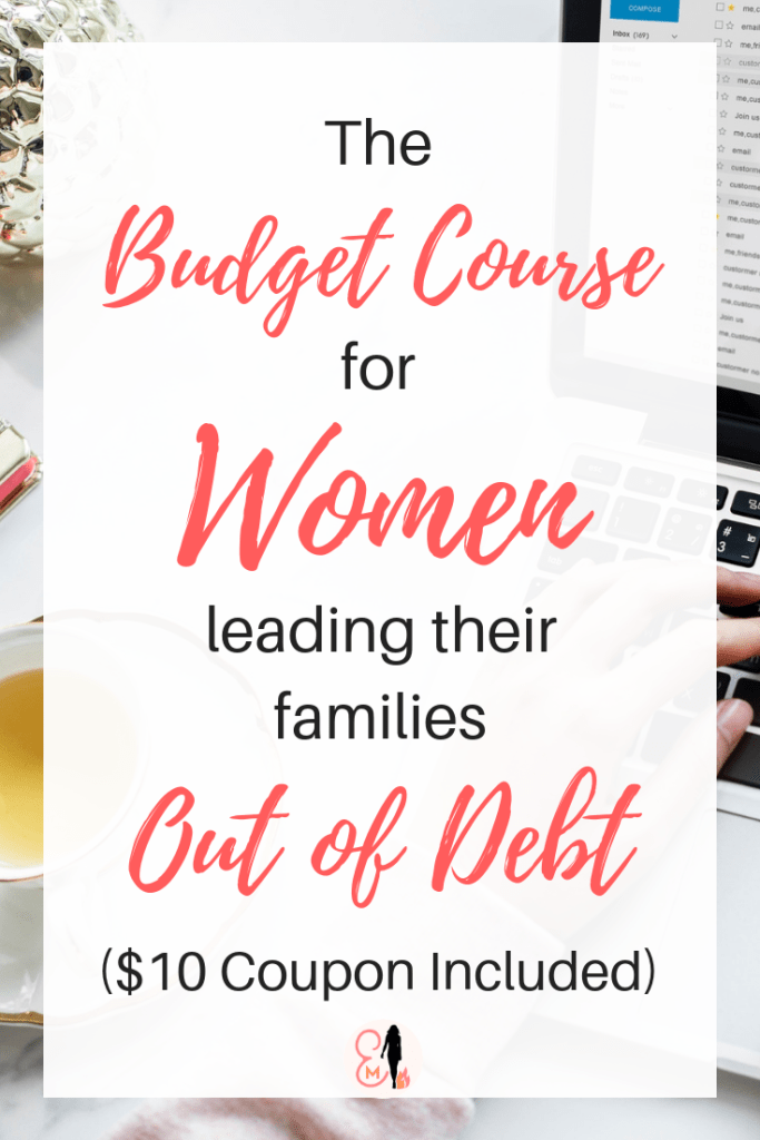 The budget course developed by the 30 year old wife and mom of three who led her family out of $490,000 of debt is finally available! This link provides a $10 coupon code.