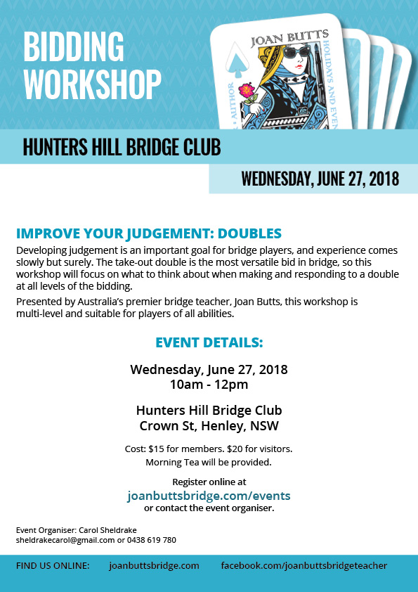 Bidding Workshop at Hunters Hill Bridge Club