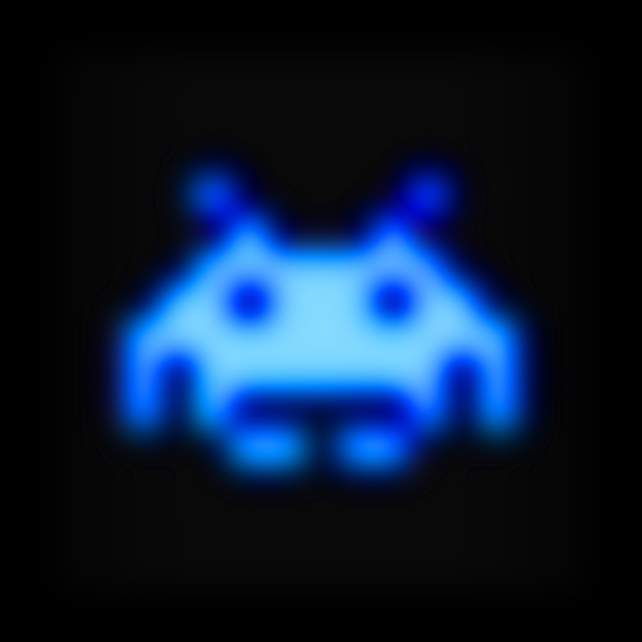 Space Invader Blue