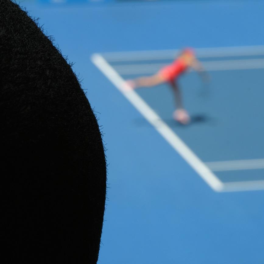 The tennis bald