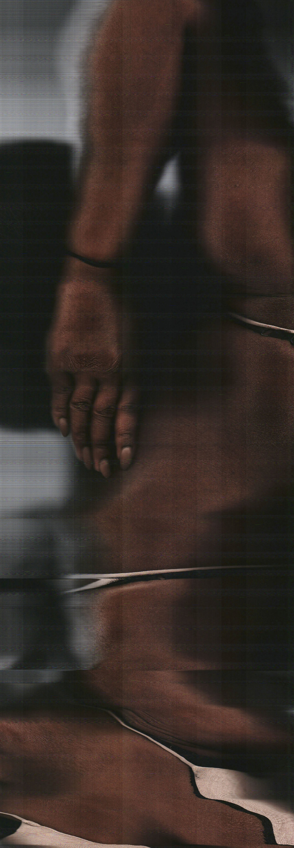An African-American Woman Doing Yoga (detail)