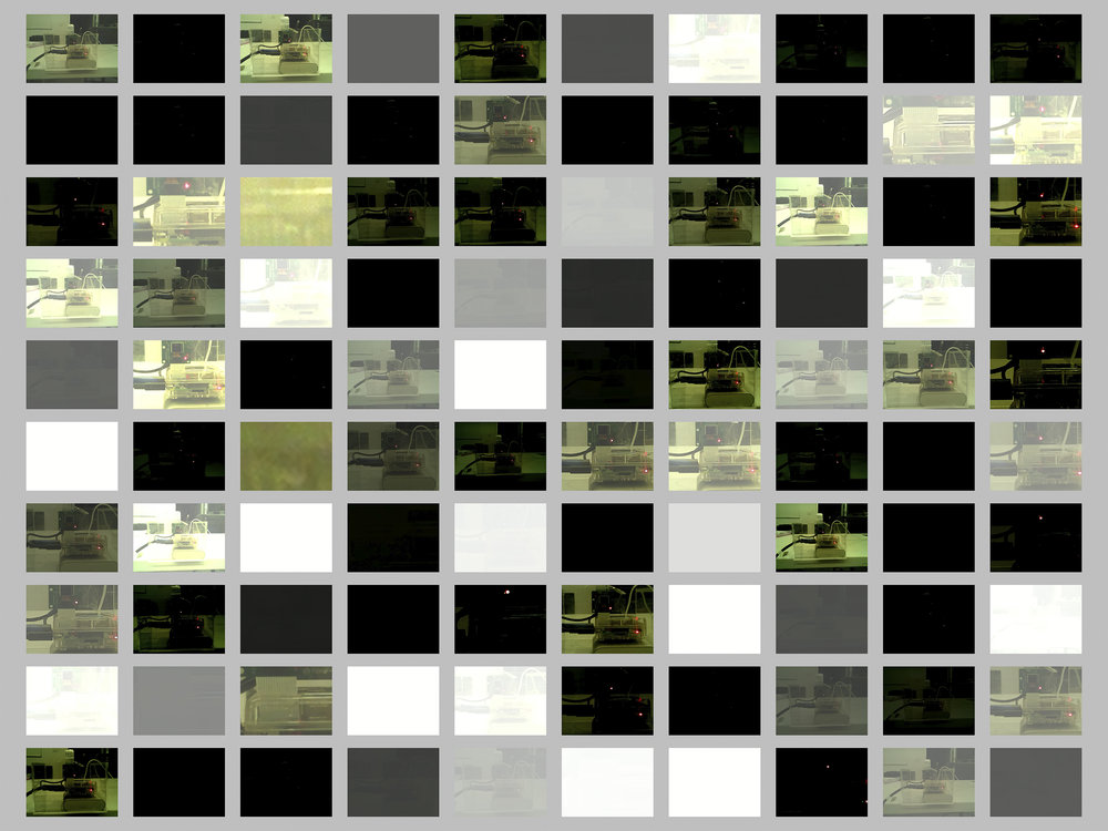 相机自拍,无颜色参数,第9次实验,10x10方格展示,No.0-No.99
