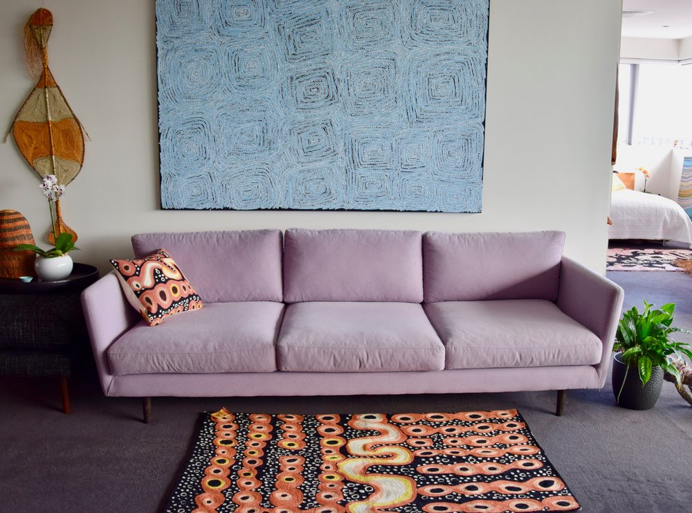 Rug and cushion cover design by Iwana Ken