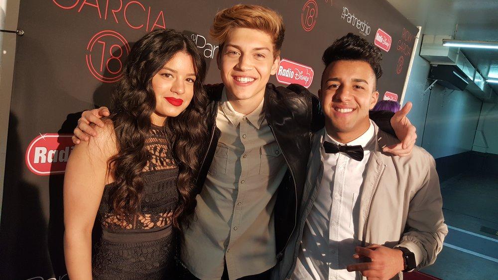 Milagro Valencia, Ricky Garcia, and Miguelito MTO