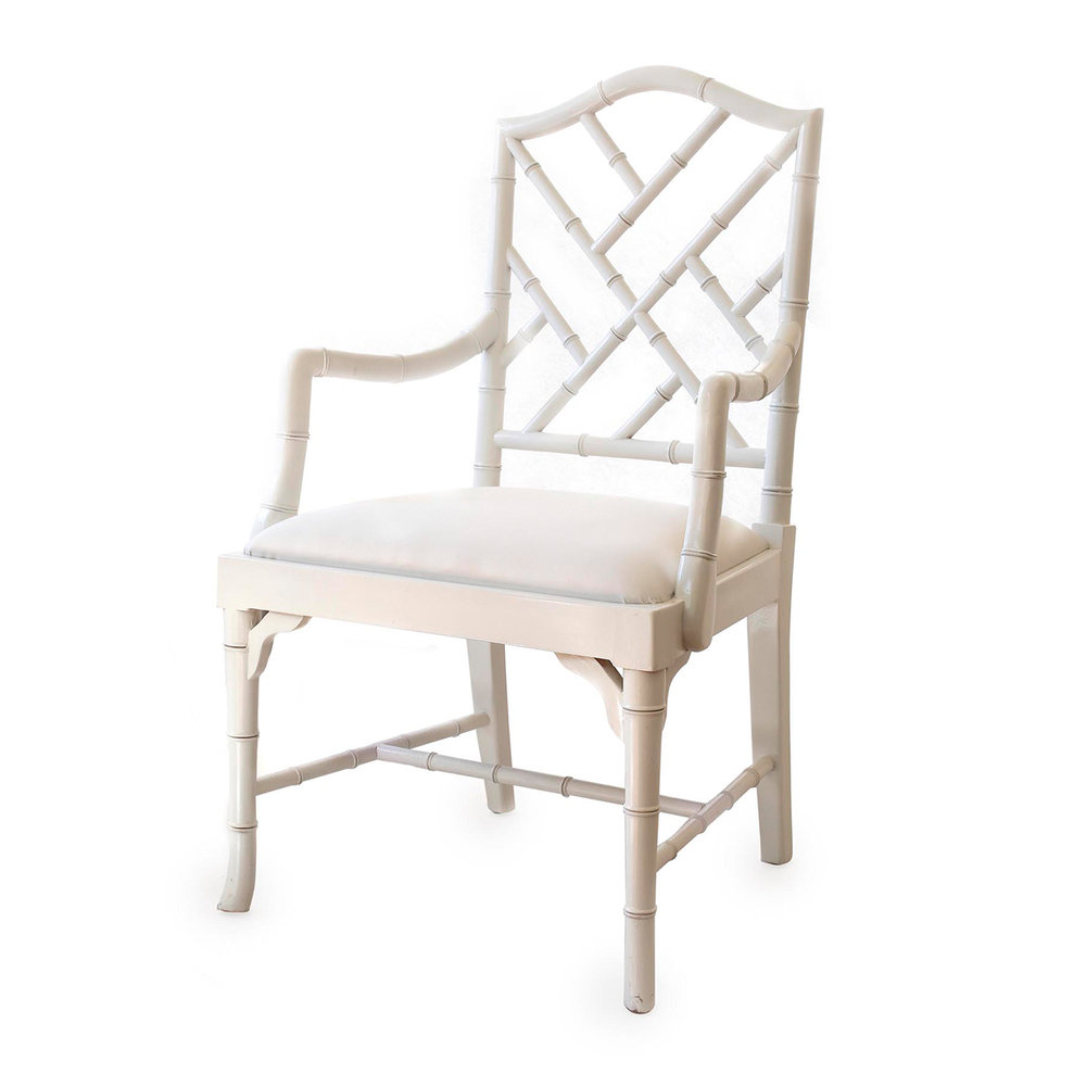 Bamboo Dining Arm Chair (White, Natural, Black) RRP $980.00