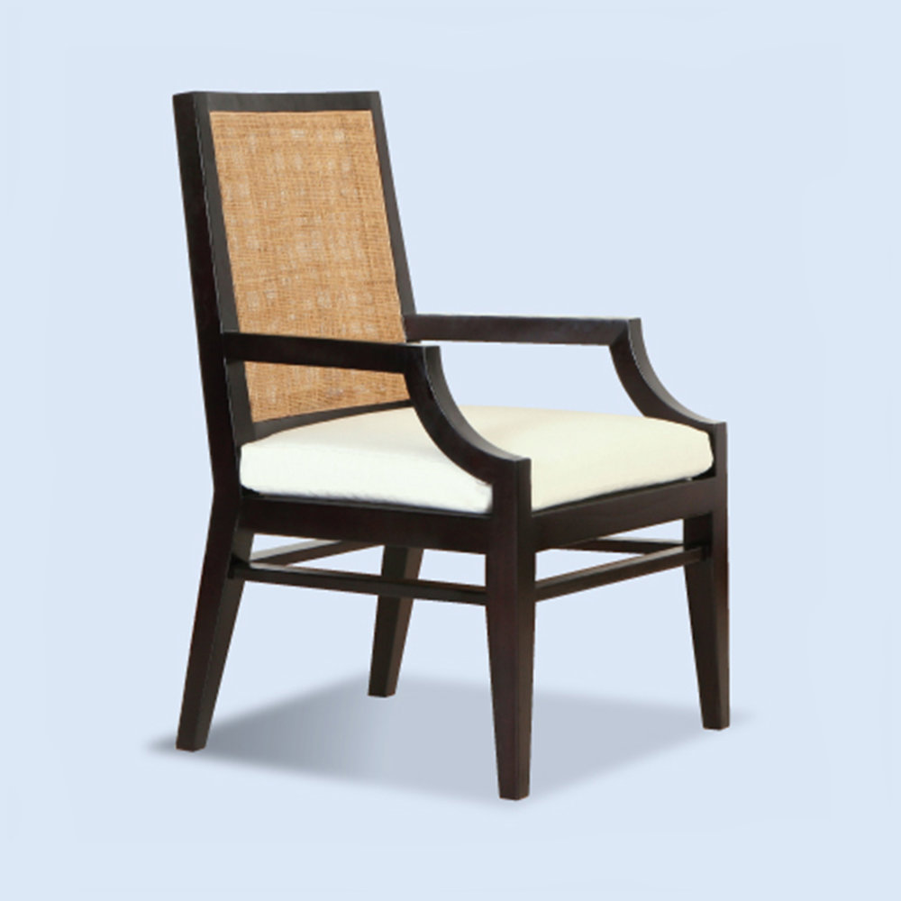 St Barts Armchair (Available painted white or espresso) Special Order - POA