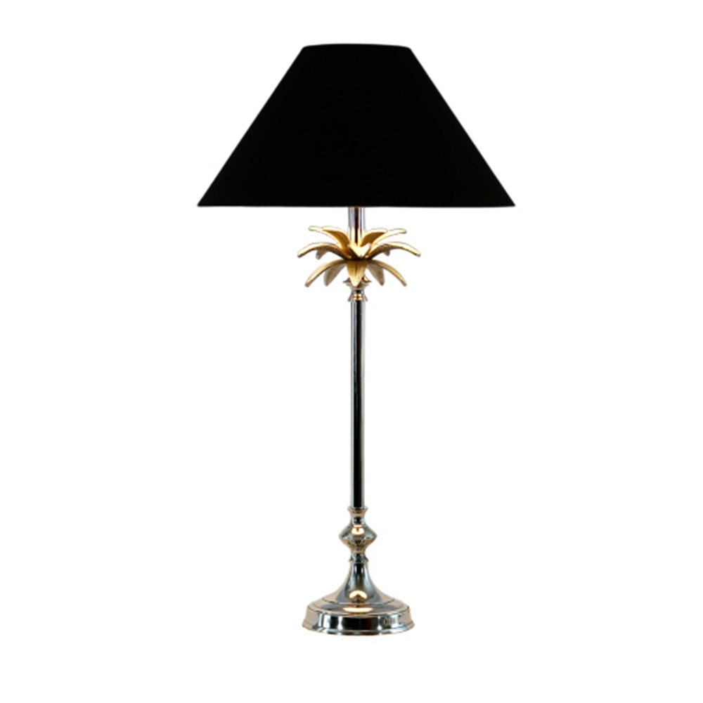 Nickel Pineapple Lamp Black $295.00