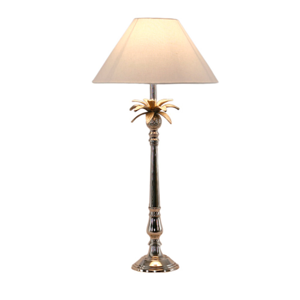 Nickel Pineapple Lamp $295.00